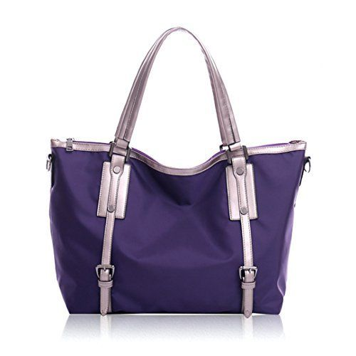 New Trending Shopper Bags: Mily Perfect Large Waterproof Nylon Tote Bag, Shoulder Bag, Handbag for Work School Travel Shopping Purple. Mily Perfect Large Waterproof Nylon Tote Bag, Shoulder Bag, Handbag for Work School Travel Shopping Purple  Special Offer: $25.88  222 Reviews Features: 1, Stylish Nylon fashion handbag, Great for any occasions! 2, This women handbag/shoulder bag is made from soft Nylon which is...