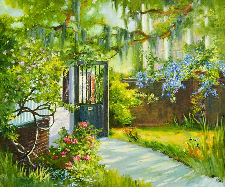 Garden Gate Paintings for Sale