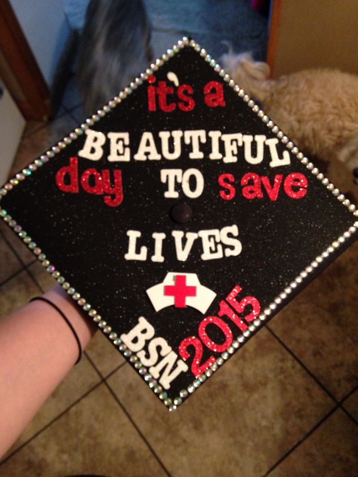 Nursing Graduation Cap BSN inspired by Grey's Anatomy If I could decorate my cap for graduation I would do this