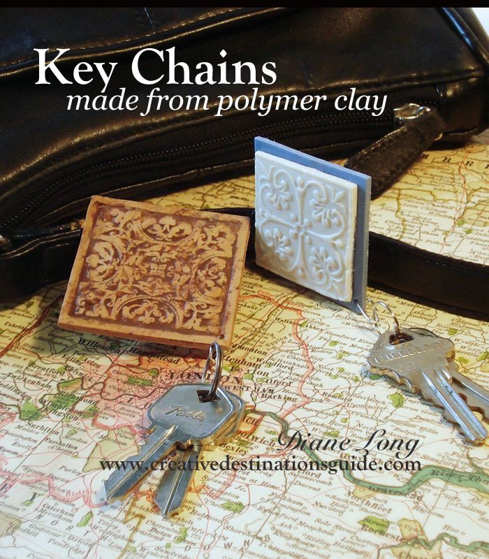 Gift Ideas for Mother's Day. Easy stamping on polymer clay Creative Destinations Guide