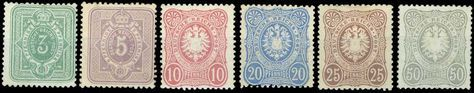 D.Reich: 1875/1879 issue, complete set of 6 values. 50pf high value stamp u/m, the rest hinged. (Mi. 3136-3600E++).