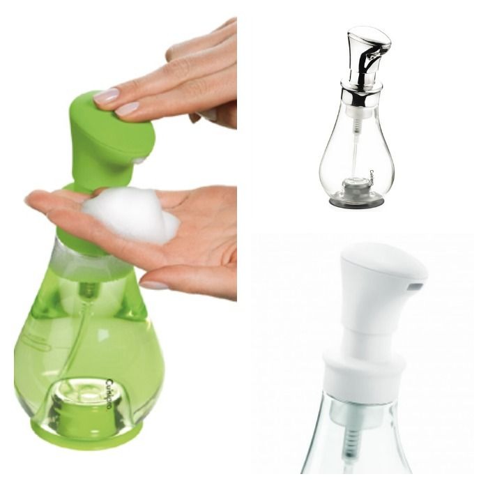 Turn liquid soap into thick foam in style for easy and complete handwashing with the Cuisipro Foam Hand Pump!
