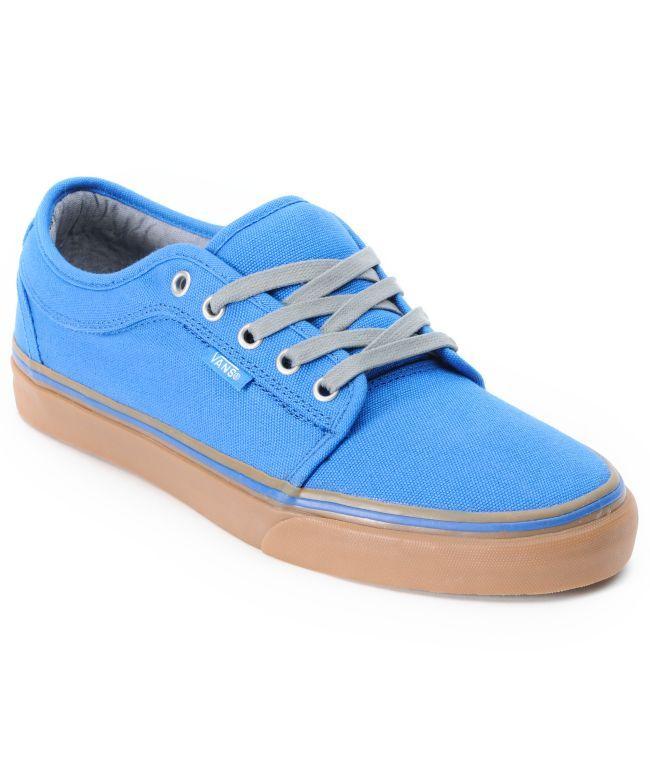Vans Chukka Low Blue Canvas & Gum Shoe