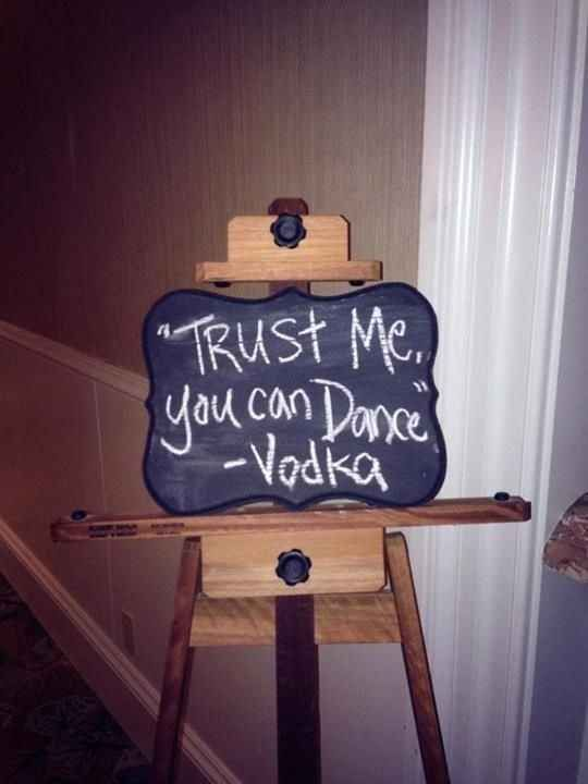 Include an inspirational quote from vodka.