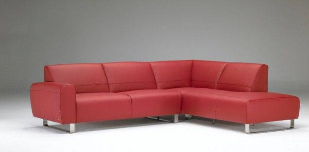 Modern minimalist design and bold personality characterize this sofa with sled-shaped metal base. Ampezzo is available in both bright colored fabrics, as well as basic leather coverings.  Sectional Dimensions  86 inches width  106 inches depth  Sofa Dimensions  79 inches width  36 inches depth
