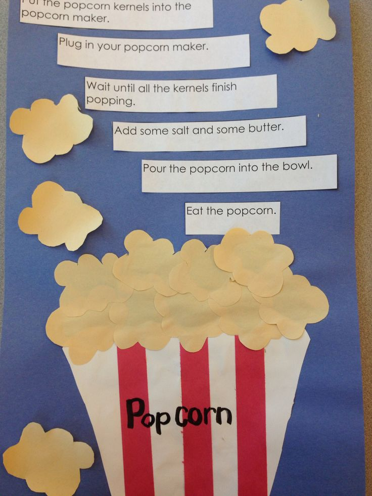 Procedural writing Use with popcorn adjective and The Popcorn Book
