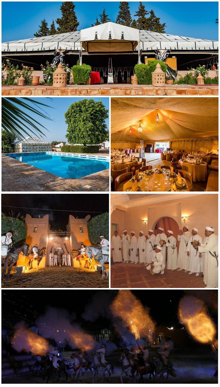 Un espace enchanté ou se côtoient restauration et convivialité, l'ambiance festive est menée au rythme endiablé des folklores du Maroc,