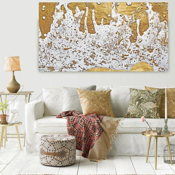 #GoldLeaf #Print, #GoldFoil #Painting, #WhiteandGold, #AbstractArt, #ExtraLarge #WallArt, #Decor, #FineArtist #JuliaApostolova, '' #Molten #Gold'' by #JuliaApostolova on #Etsy #interior #homedecor #design #decorator #interiordesigner #fineart #canvas #trending #etsyshop #etsyartist