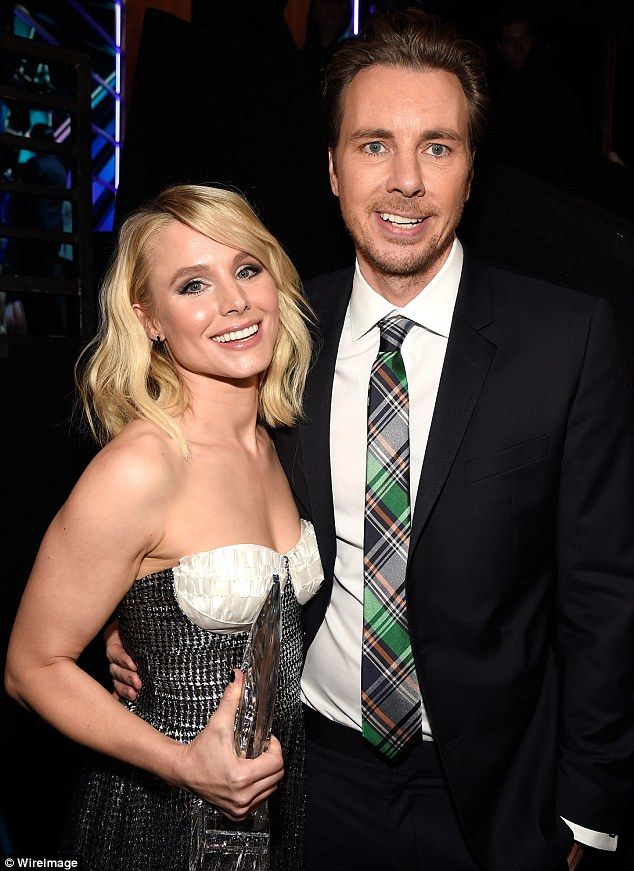 Proud parents: Kristen Bell and Dax Shepard have two daughters, age three and two