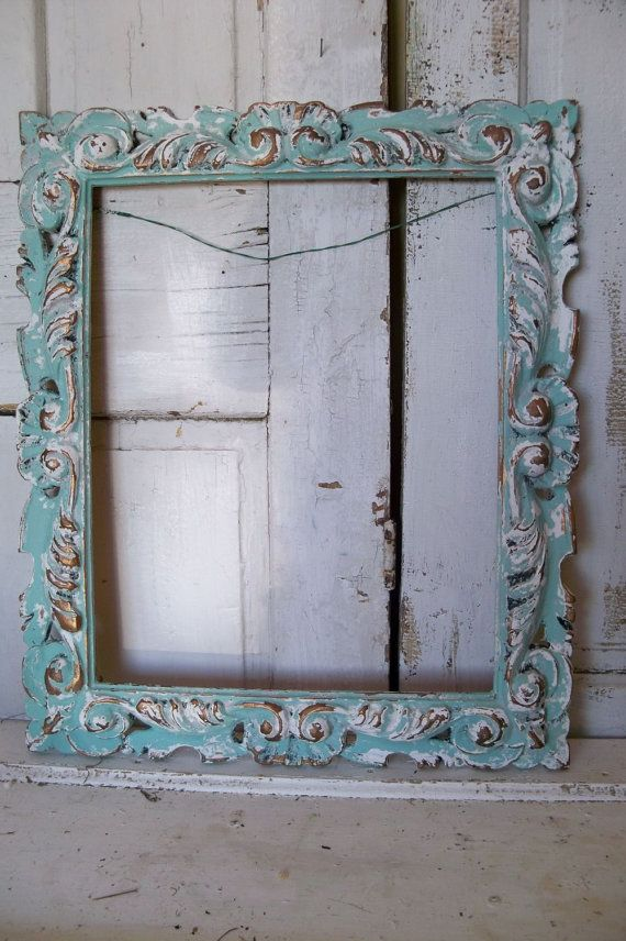 on reserve ornate large frame seafoam green and white rectangular shabby chic wall decor anita spero