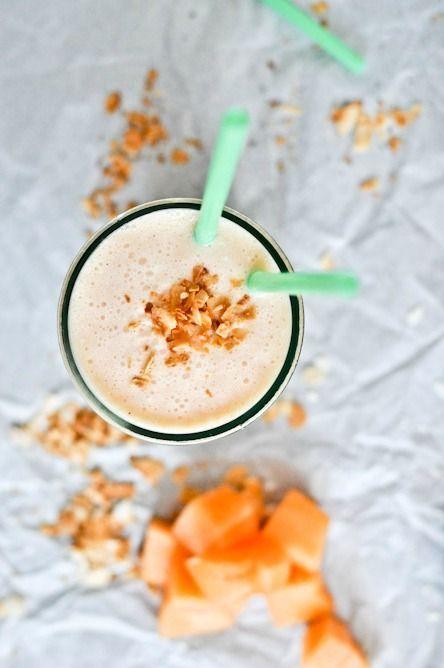 Cantaloupe Coconut Lassi Recipe | howsweeteats.com