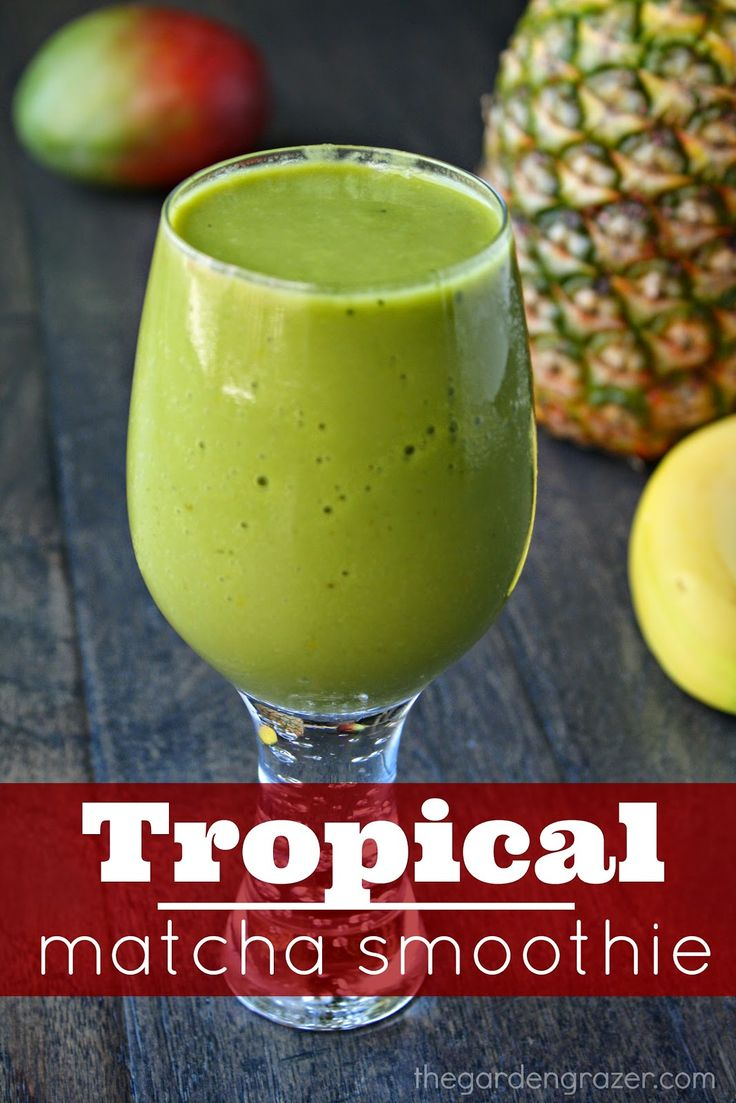 Sail away to zenergy paradise! This tropical matcha smoothie is both energizing and calming (vegan, gluten-free)