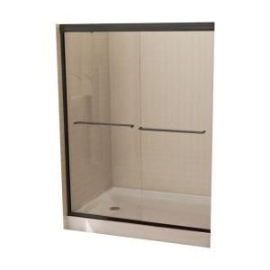 MAAX Tonik 54 in. to 59-1/2 in. W Shower Door in Bronze with 6MM Clear Glass-205FBZ-C59 at The Home Depot