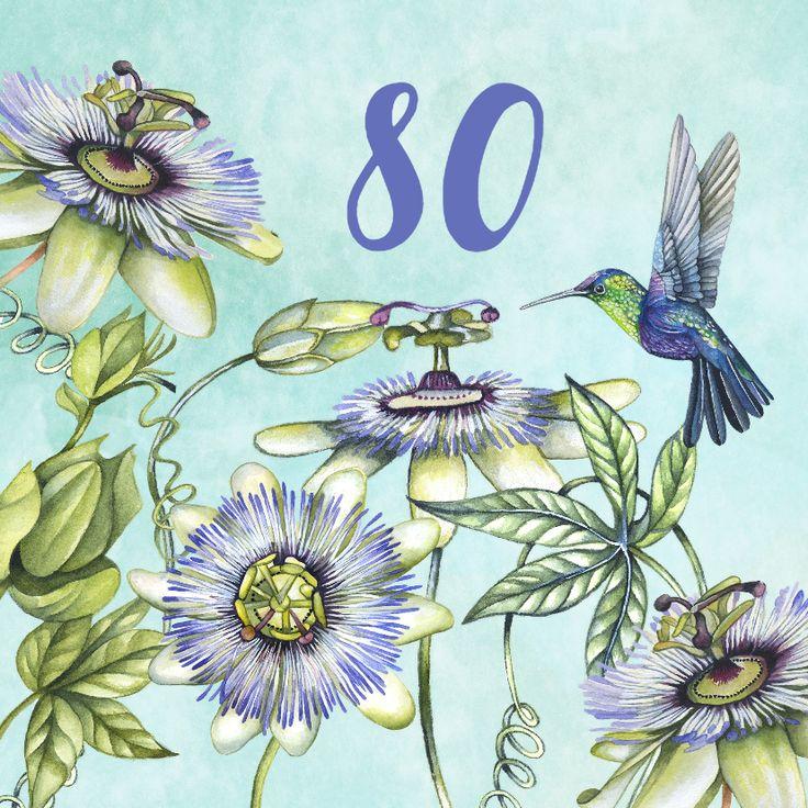 Verjaardag hummingbird tropisch, verkrijgbaar bij #kaartje2go voor €1,99