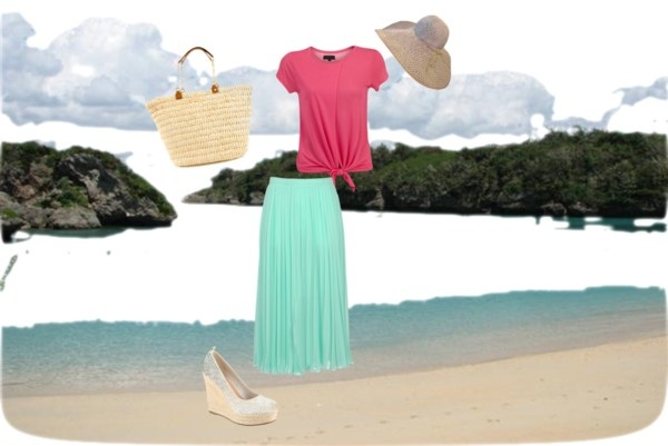 """""""beach day by my daughter"""" by julsan on Polyvore"""