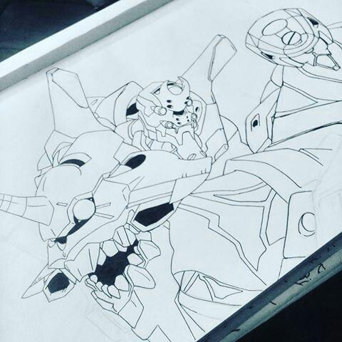 Neon Genesis Evangelion Eva 00 01 02 Drawing