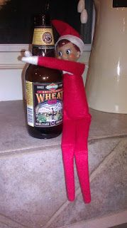 LOL! He's called The Elf on the Shelf, not the Elf who Skydives, Takes Bubble Baths and Shaves the Dog!  I think I'm just going to lay my Elf on his shelf, tape wires and hoses to him and tell my kids he's in a coma and hopefully he'll recover before Christmas.| Hilarious by the lady who blogs at http://www.peopleiwanttopunchinthethroat.com/