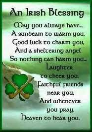 Irish blessing: May you always have a sunbeam to warm you...
