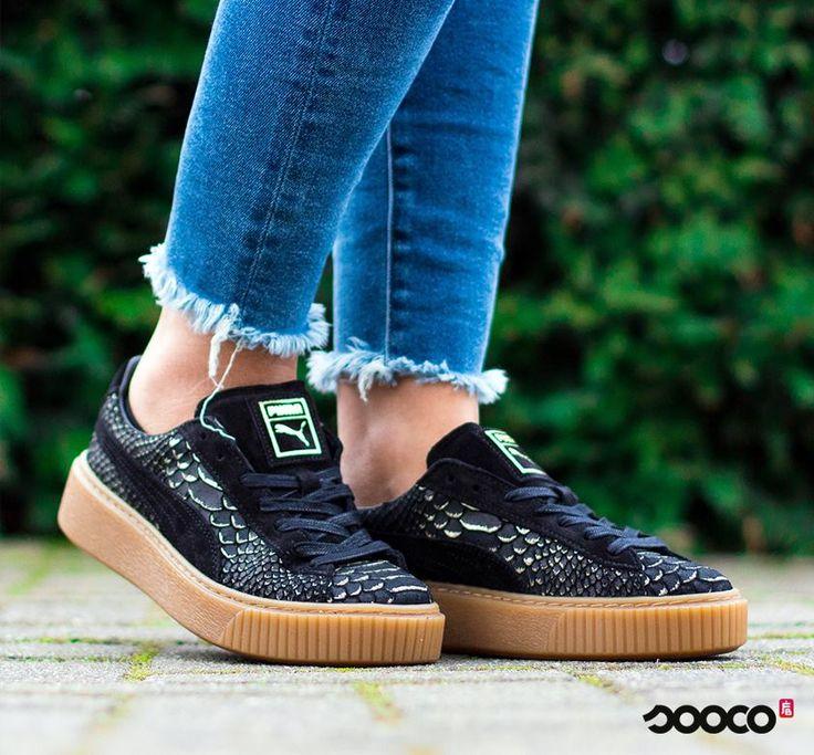 Een schoen met een gouden randje https://www.sooco.nl/puma-platform-exotic-skin-zwarte-platform-sneakers-30206.html