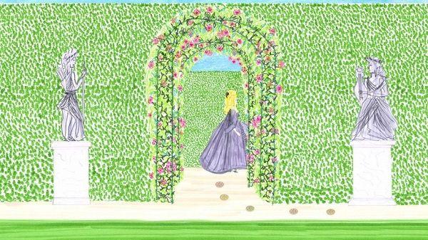 Con questa nuova animazione illustrata personalmente, Victoire de Castellane, Direttrice di Dior Joaillerie, presenta i piccoli anelliRose des vents.