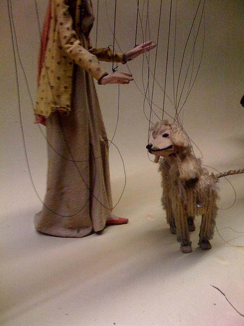 Puppet walking puppet dog!