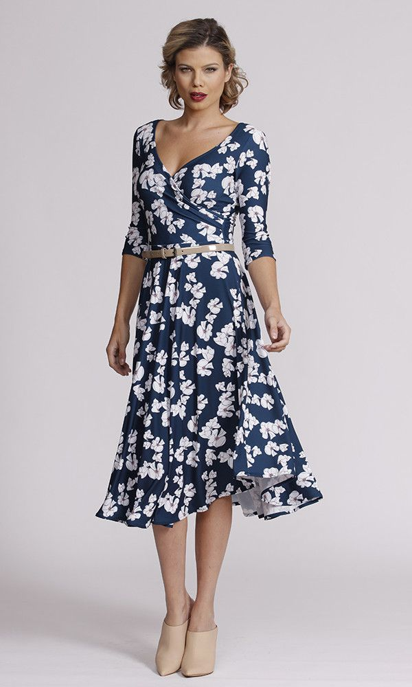 Leina Broughton - - Stella Dress In Waterlily Print