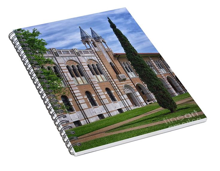 Rice University - Herzstein Hall Spiral Notebook for Sale by Norman Gabitzsch, Houston Photographer.  #SpiralNotebook #Notebook #RiceUniversity #RiceOwls #Journal #Diary #BackToSchool #SchoolSupplies #HoustonTexas  (scheduled via http://www.tailwindapp.com?utm_source=pinterest&utm_medium=twpin)
