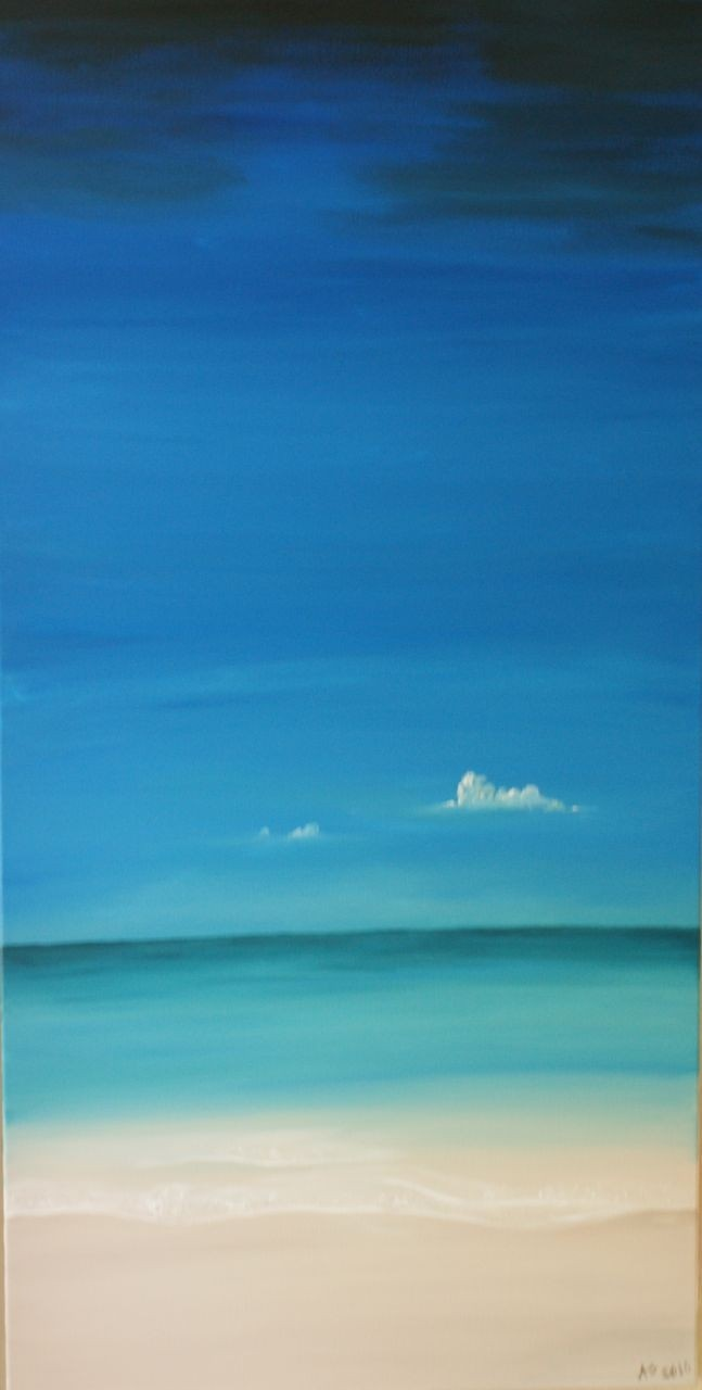 Ocean painting. $500.00, via Etsy.