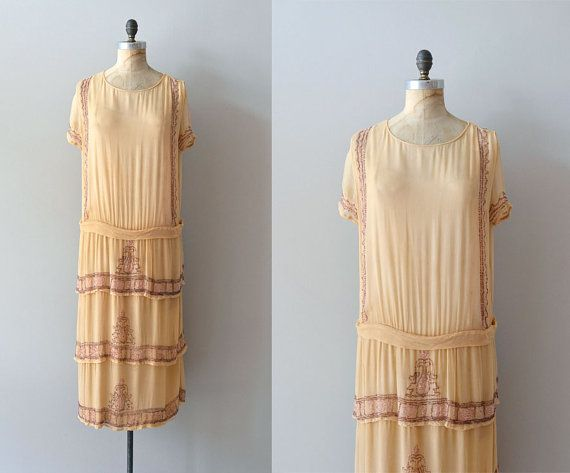 Lycée Françoise / silk 1920s dress / vintage 20s by DearGolden, $485.00