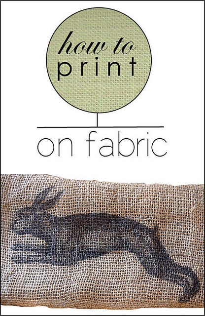 How to print on fabric!  (with 2 things you probably have in your house right now!)