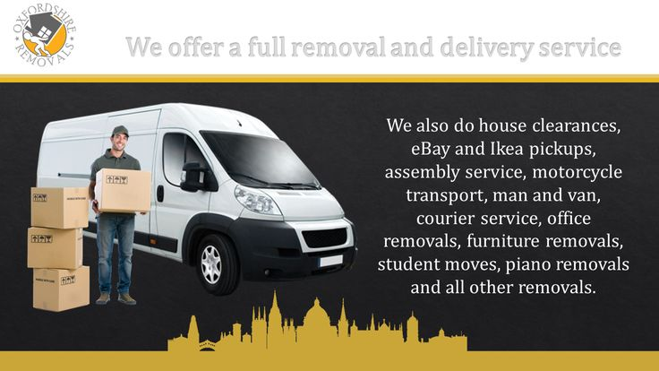 Oxfordshire Removals offer a full removal and delivery service. We also do house clearances, eBay and Ikea pickups, assembly service, motorcycle transport, man and van, courier service, office removals, furniture removals, student moves, piano removals and all other removals.