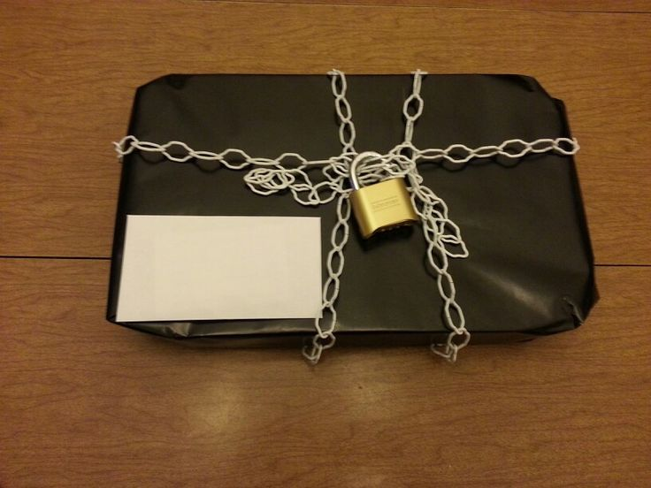 Gift for a spy theme party...get a lock that you can set the combo and set it to the birthdate.  Then lock up the gift.  Then write a note that gives a hint to the combo.