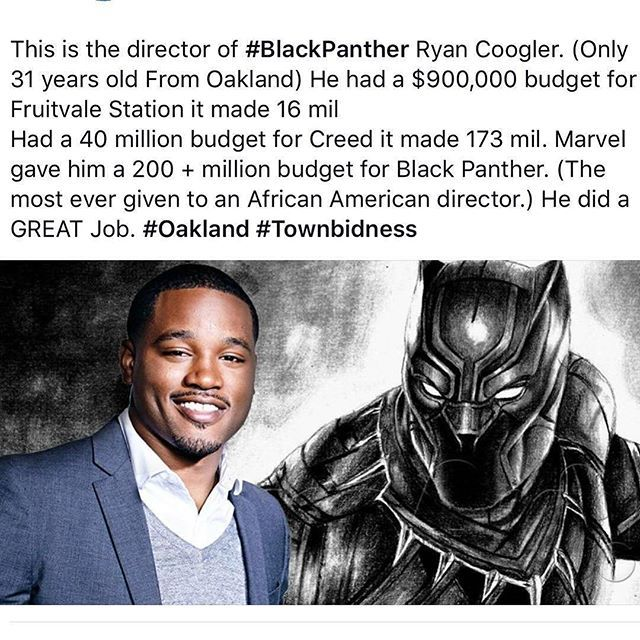 Celebrate Black Panther! Repost @blackwall.st @ryancoogler #blackpanther Director #blackwallst