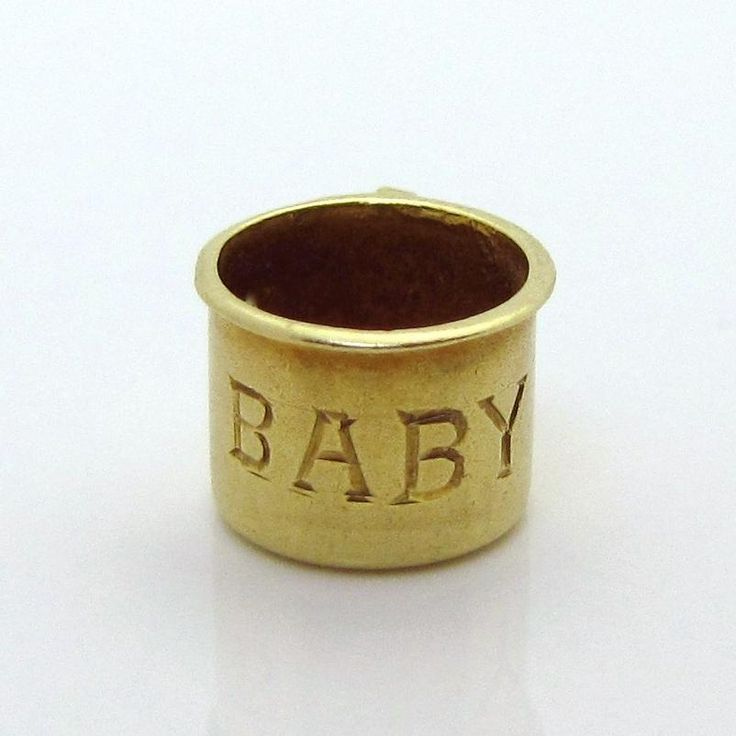 Adorable Vintage 14K Gold 3D Baby Cup Charm Sloan & Co. 1930s from charmalier on Ruby Lane