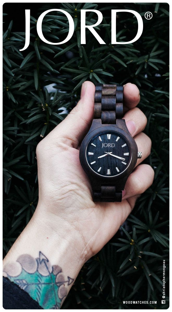 Never stained or painted, JORD's line of wood watches is natural 100% wood stock, hand finished and naturally conditioned with tung oil. Save the ink for your arms.   Find our full series at www.woodwatches.com. Free shipping in the U.S.!