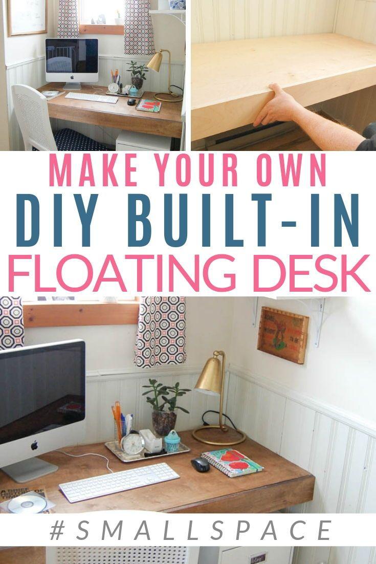 Build A Floating Desk Space Saving Solution Floating Desk Diy