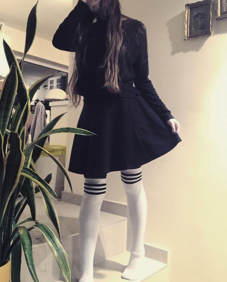 #outfits #kneesocks #highsocks #goth #emo #tumblr #hipster #grunge #teen