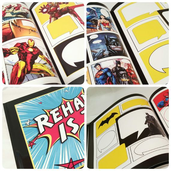 Superhero Guest Book - Wedding Guest Book - Superhero Wedding Guest Book - Unique Guest Book - Superhero Birthday Guest Book - Personalized