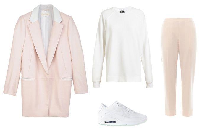 С чем носить розовое пальто весной