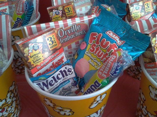 Movie Night Party Favors #movienight #partyfavors