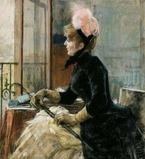 Albert Edelfelt - By the Window, 1884.