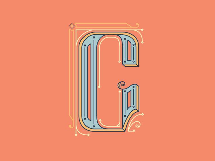 G is for Geometric  Drop Cap by Blake Thomas