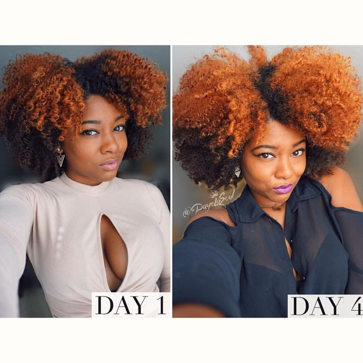 Braid out day 1 vs day 4 hair  Natural hair  See this Instagram photo by @dayelasoul • 2,517 likes