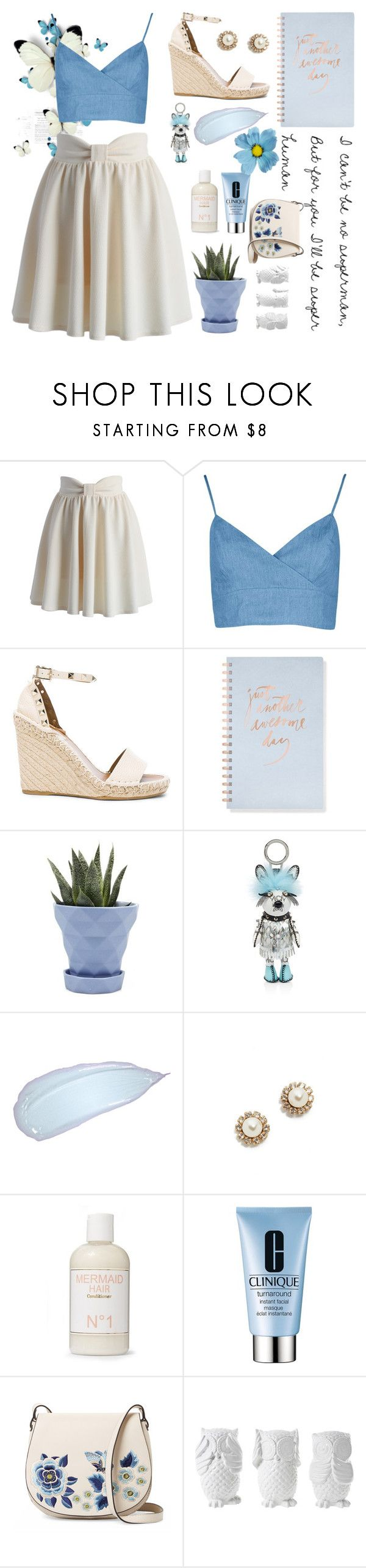 """""""Superhuman Girl"""" by alongcametwiggy ❤ liked on Polyvore featuring Chicwish, Valentino, Fringe, Chive, MCM, Marc Jacobs, Liberty, Clinique, French Connection and Design 55"""