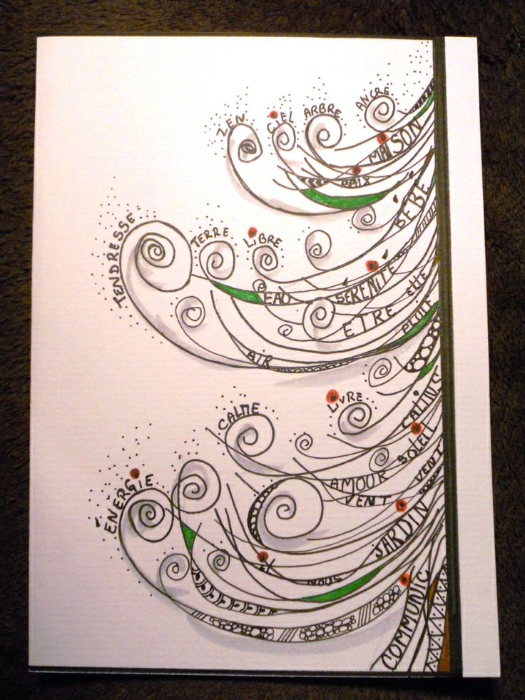 Made In My Little Home - HAPPY NEW YEAR   ZEN - zentangle - doodle