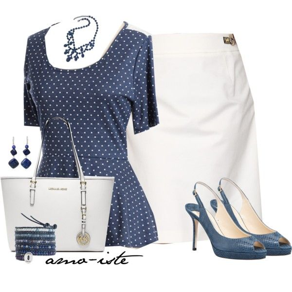 """White after Labour Day?! - Plus Size"" by amo-iste on Polyvore This is a great outfit and a better purse would be from the 2014 brahmins purses the delft blue purse anyone of the delft blues would be great."
