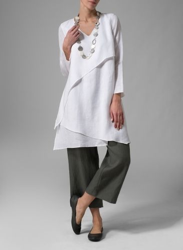 Layered tunic by Vivid,i would wear slimmer pants with this top