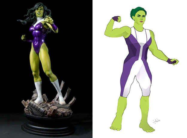 She-Hulk | 12 Lady Superhero Costumes Redesigned By Ladies
