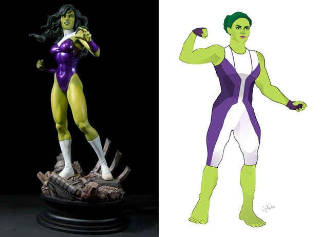 She-Hulk | 12 Lady Superhero Costumes Redesigned By Ladies