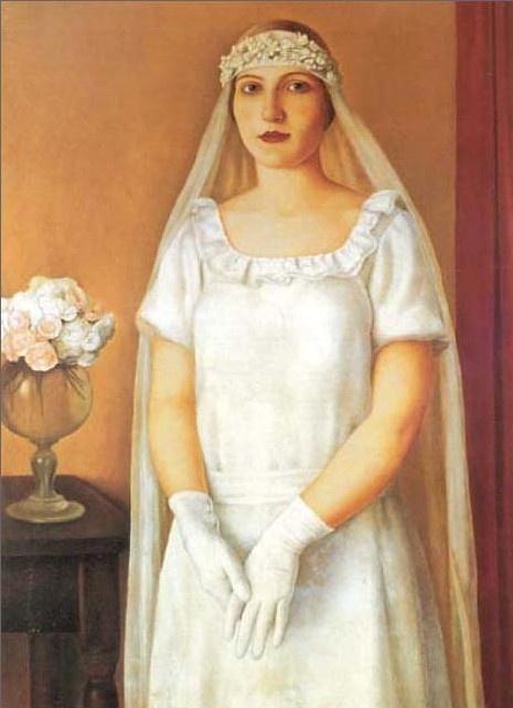 Antonio Donghi(1897-1963) —  La sposa, 1926